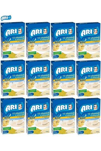 Arı Mama Pirinç Unu 200gr Gece 7 Tahıllı Sütlü (12 Li Set)