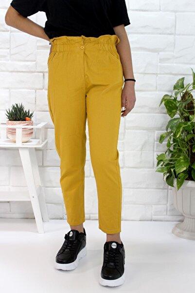 She Kadın Sarı Gabardin Pantolon 1742