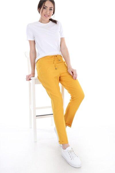 Bigdart Kadın Sarı Yandan Cepli Pantolon 6401