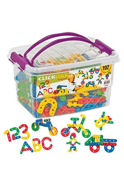 DEDE Plastik Saklama Kutulu Click Clack Puzzle Lego 192 Parça