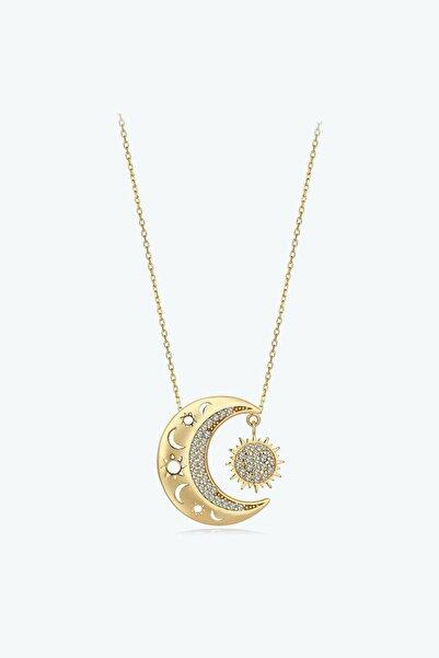 Altınbaş Altın Mihrimah Ay ve Güneş Kolye