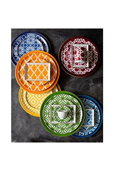 Porland Morocco Karma Renk 24 Parça 6 Kişilik Yemek Takımı