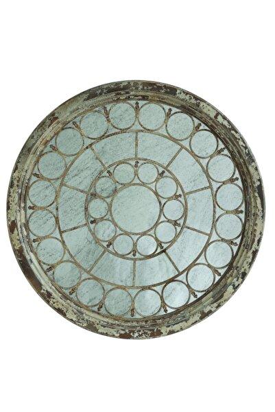 Warm Design Ahşap Çerçeveli Antik Ayna