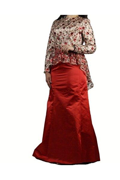 Kayra Kadın Kırmızı İşlemeli Takım