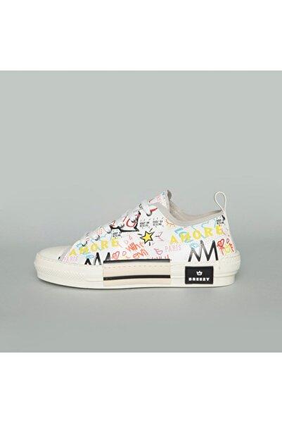 BREEZY Erkek Beyaz Dıjıtal Desenli Ayakkabı 20510009