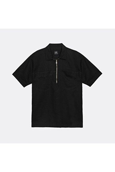 BREEZY Erkek Siyah Çift Cep Onu Fermuarlı Gömlek 20102014