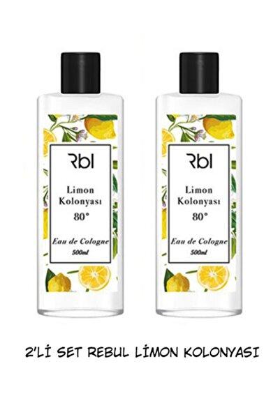Rebul Kolonya 2'li Limon Set Limon Kolonyası 80 Derece 500 Ml 2 Adet