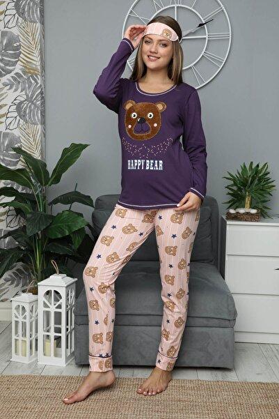 Mossta Kadın Mor Kışlık Uzun Kol Pijama Takım