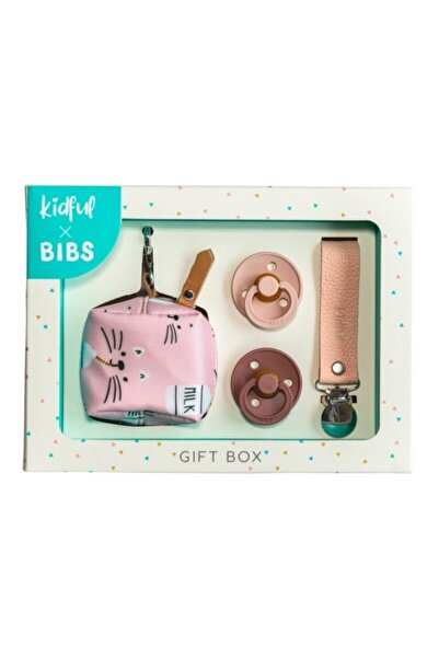 Bibs Kidful & Gift Box - Milky 0-6 Ay