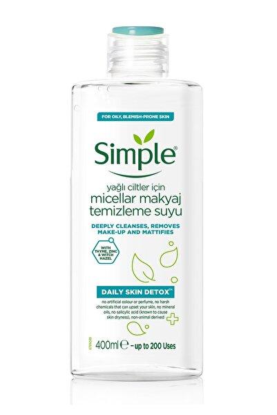 Simple Daily Skin Detox Yağlı Ciltler Için Micellar Makyaj Temizleme Suyu - 400 Ml