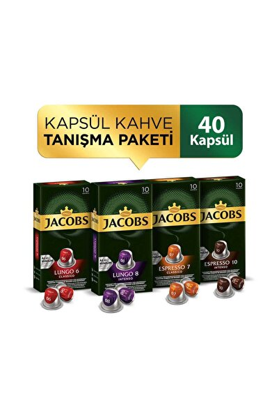 Jacobs Kapsül Kahve Tanışma Paketi 40 Kapsül