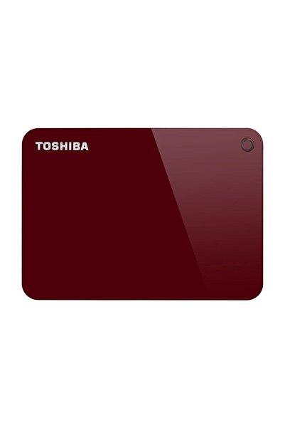 Toshiba Hdtc920er3aah Canvio Advance 2 Tb 2.5 Inç Usb 3.0 Taşınabilir Disk Kırmızı