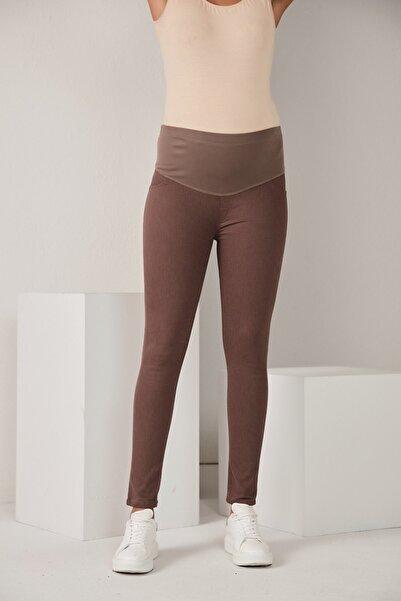 Görsin Hamile Kadın Hamile Vizon Pamuk Pantolon