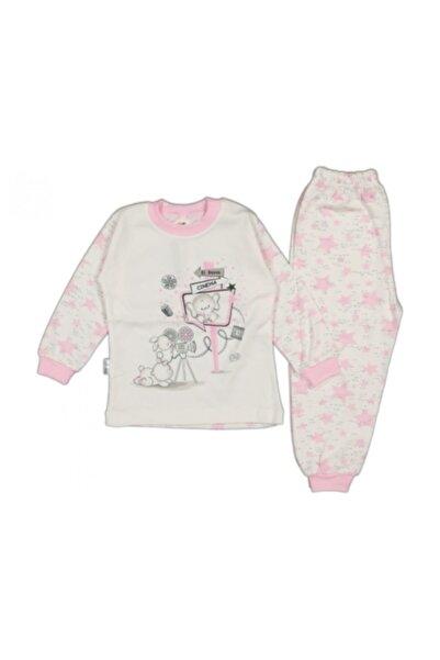 El Bebek Kız Çocuk Yıldızlı Fil Baskılı Pijama Takımı