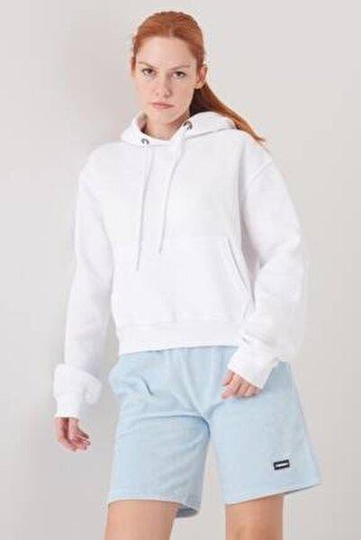Kadın Beyaz Cep Detaylı Sweat S0818 - F11 ADX-0000021306