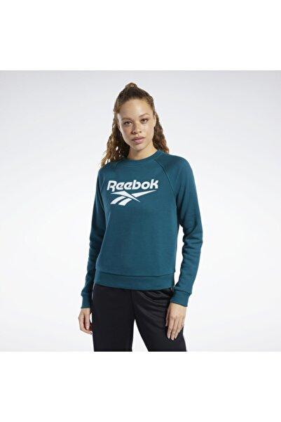Reebok Kadın Petrol Mavi Classics Vector Crew Sweatshirt