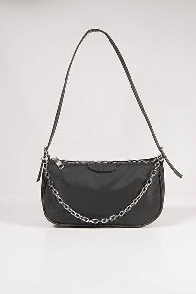 Addax Kadın Siyah Zincir Detaylı Askılı Çanta Ç403 - DK1 ADX-0000023011