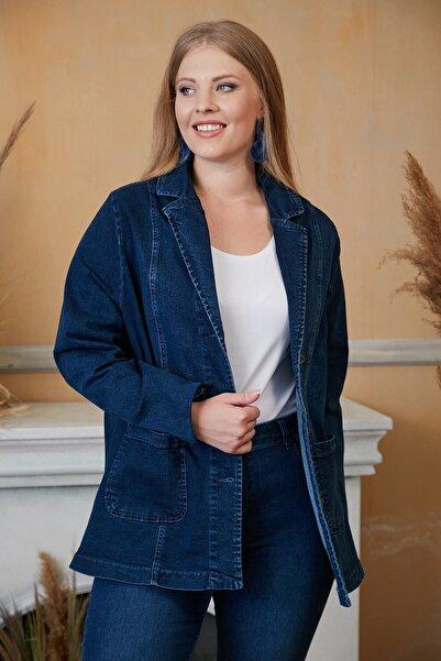 RMG Kadın Mavi Kot Ceket