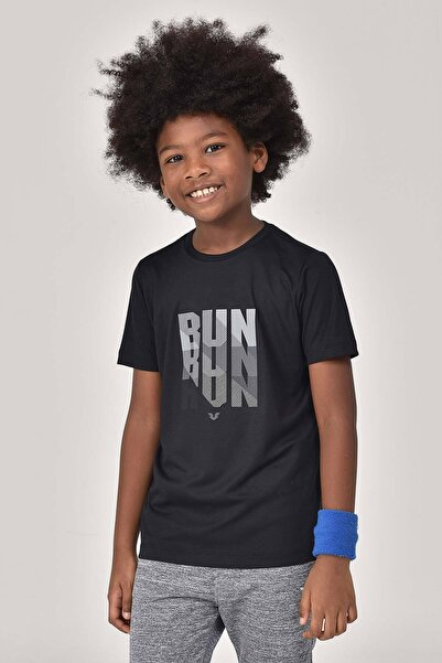 bilcee Siyah Erkek Çocuk T-Shirt GS-8144
