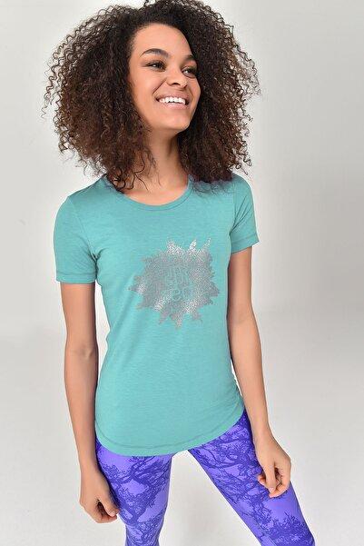 bilcee Turkuaz Büyük Beden Kadın T-Shirt GS-8131