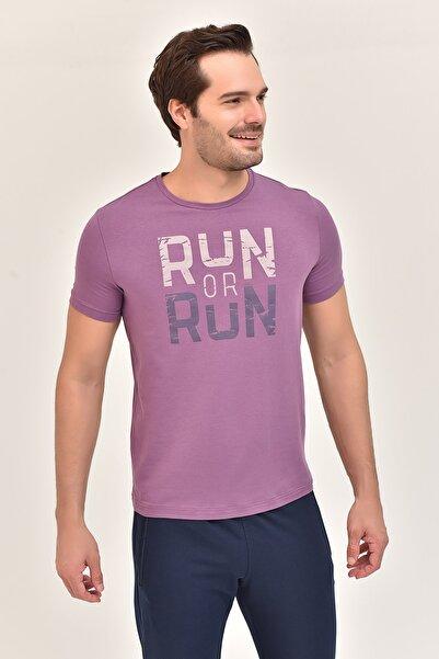 bilcee Mor Erkek T-Shirt ES-1362