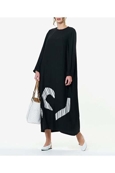 Aker Büyük Beden Siyah Elbise T46429041