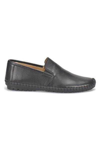 Flogart Erkek Siyah Hakiki Deri Casual Confort Günlük Ayakkabı
