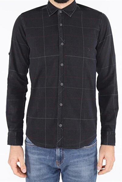 Twister Jeans Erkek Siyah Kareli Gömlek Eg 1537 01