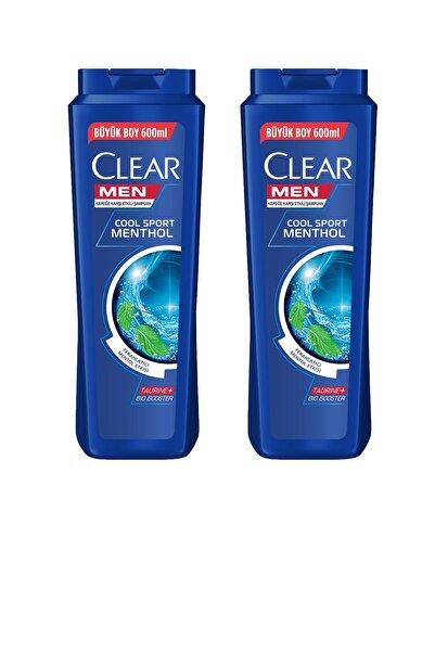 Clear Men Şampuan Cool Sport Mentollü 600 Ml ( 2 Adet )