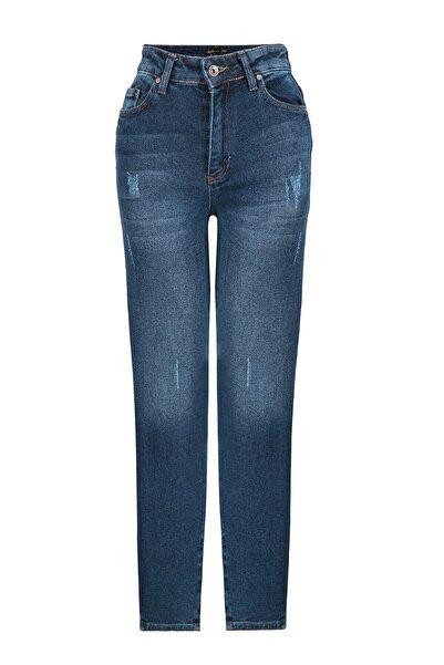Oblavion Kadın Mavi Mom Jeans