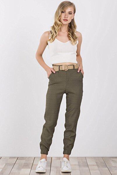 Arma Life Kadın Haki Hasır Kemerli Pantolon