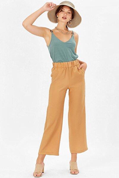 Arma Life Kadın Camel Beli Lastikli Salaş Pantolon