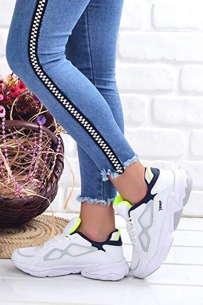 Kadın  Beyaz Lacivert  Spor Ayakkabı 24712