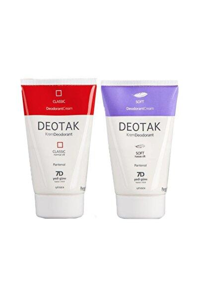 Deotak Unisex Krem Deodorant 2'li Set