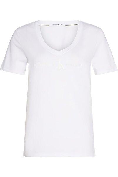 Calvin Klein Monogram Stud Gel V-neck Tee