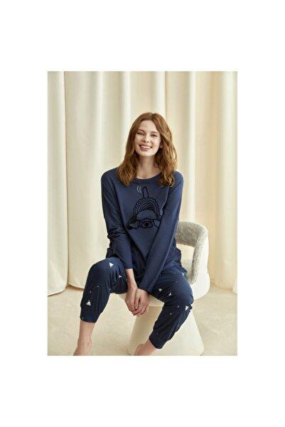 Penyemood Kadın Lacivert Pijama Takımı