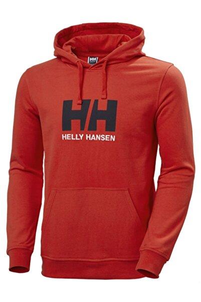 Helly Hansen Erkek Kırmızı Baskılı Sweatshirt