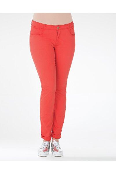 GEBE Kadın Mercan Rengi Büyük Beden Pantolon