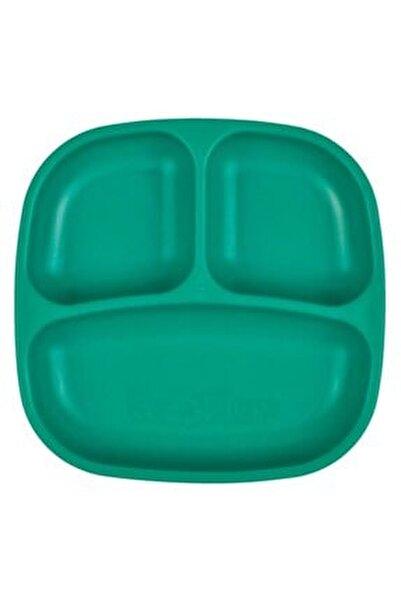 Unisex Bebek Yeşil Bölmeli Tabak