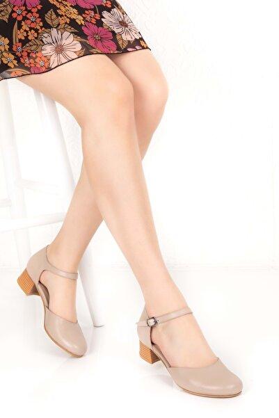 Gondol Kadın Vizon Hakiki Deri Günlük Ayakkabı