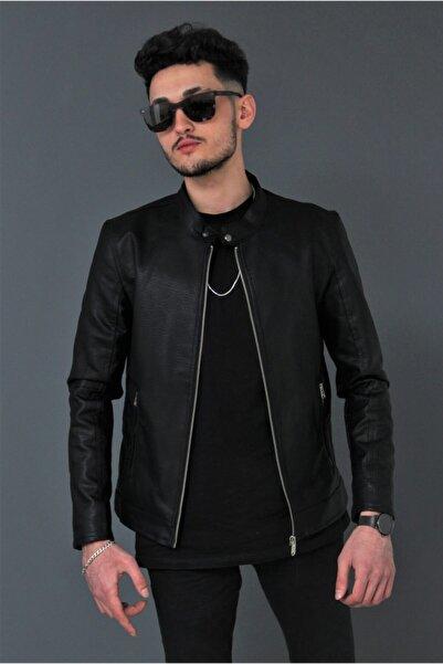 Bonissimo Erkek Siyah Deri Ceket