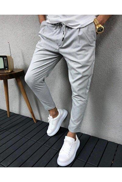 trendvadi Erkek Gri Jogger Pantolon