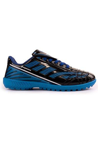 Lagoos Siyah Mavi Halı Saha Ayakkabısı
