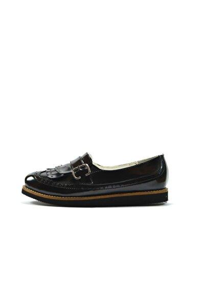 Mini Angel 155 Siyah Kız Çocuk Okul Ayakkabı