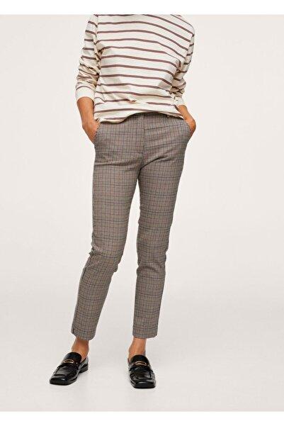 MANGO Woman Kadın Kahverengi Kısa Paçalı Skinny Pantolon