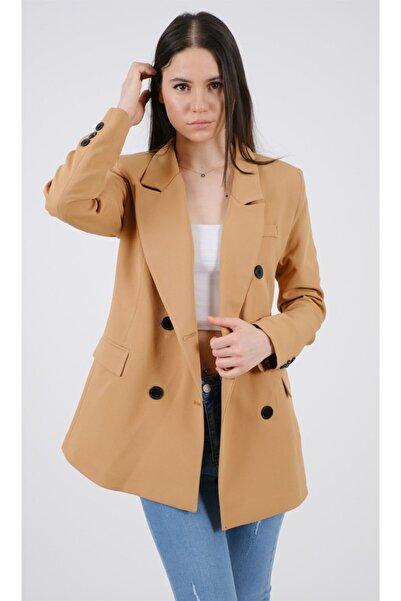 snc Kadın Ön Düğmeli Uzun Kol Blazer Ceket 3428lu21y