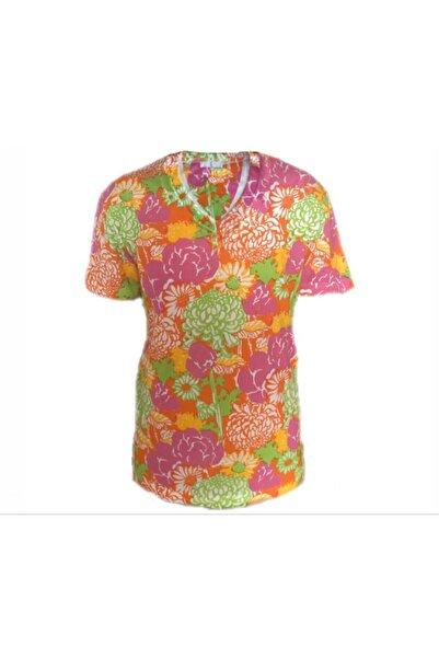 Prada Desenli V Yaka Kabartma Logolu Tshirt