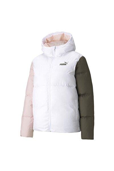 Puma Ess + Cb Down Jacket Kadın Beyaz Mont - 58769702