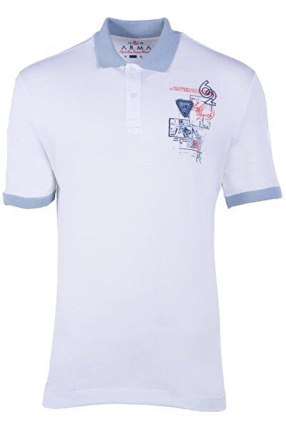 Arma Y21374275201 Erkek Baskılı Polo Yaka T-shirt Kısa Kollu Yazlık Tişört