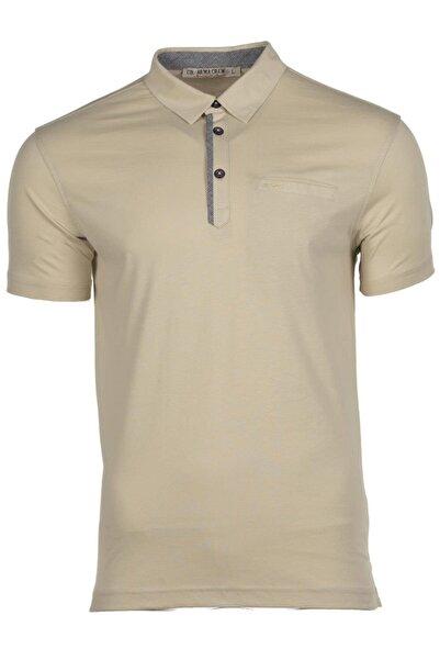 Arma Y9tyo7614 Erkek Basic Cepli Polo Yaka Regular Fit T-shirt Kısa Kollu Yazlık Tişört